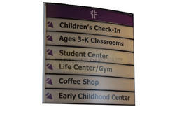 Modular Directory Signs