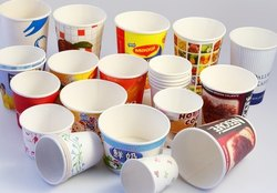 KRISHNA PAPER CUPS, For Event and Party Supplies, Packet Size: 100 Piece