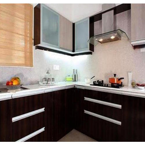 Godrej Modular Kitchen With Marine Ply Shutter At Rs: L Shaped Modular Kitchen At Rs 2500 /square Feet