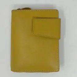 Yellow Leather Ladies Wallet