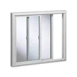 Modern White Exterior UPVC Sliding Window, For Residential, Size/Dimension: 4 To 5 Feet (height)