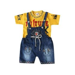 Forever Young Baby Cotton Denim Dungarees