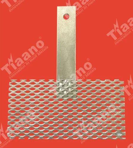 """Iridium-Ruthenium Oxide 2/"""" x 3/"""" with stem handle Titanium Mesh Anode MMO"""