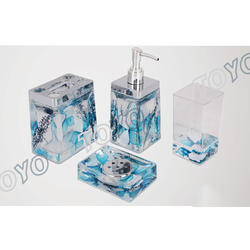 Blue Acrylic Bath Set