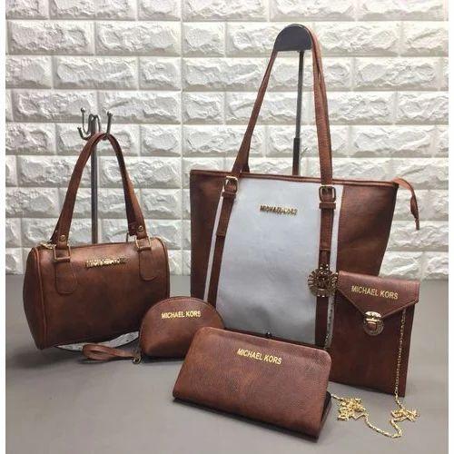 ae21bab63640 Foam Leather Designer Brown Ladies Hand Bag Set, Rs 100 /piece | ID ...