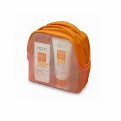 Orange And Transparent PVC Printed Bag