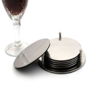 Cup Coasters with Holder, Prevent Stains and Scratches with Round Table Coasters