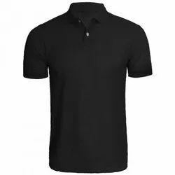 Polo Neck Half Sleeve Men Cotton Collar T-shirt (pique)