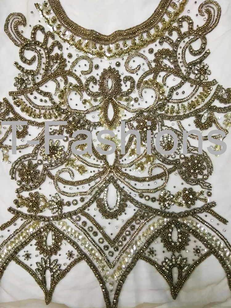 Tf 0022 Handwork Zardosi Work Hand Embroidery At Rs 1000 Piece