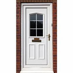 White UPVC Hinged Door