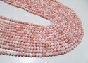 Natural Pink Opal Round Plain Smooth Beads 3-4mm to 5-6mm