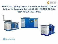 SPEKTRUM Vary Ashok Leyland Diesel Generator Sets, For Industrial
