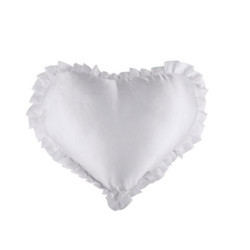 Heart Satin Cushion Frill