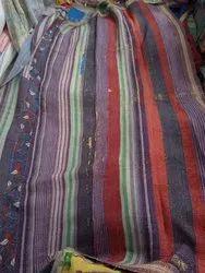 Multi Lines Vintage Kantha Quilt