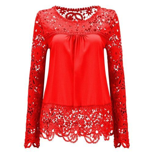 f0d62bc0a7ff21 Hosiery And Lace Fabric Round Neck Ladies Party Wear Top