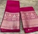 Pure Linen Silk Banarasi Saree