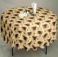 Airwill Multicolor Designer Table Cloth, Size: 140 X 140 Cm