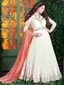 Designer Embroidered Long Anarkali Suit with Exclusive Embroidered Dupatta