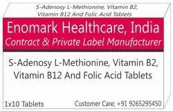 S-Adenosyl-L-Methionine, Vitamin B2, Vitamin B12 and Folic Acid Tablets