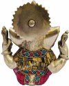 Nirmala Handicrafts Brass Ganesha/Ganpati Statue Stone Work Indian God Idol Figurine