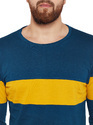 Men Full Sleeve Striped Round Neck T-Shirt