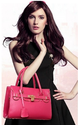 Pink And Brown And Skin Party Wear Plain Handbag