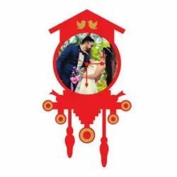 Sublimation Wooden Clock Wall Frame