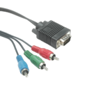 15 Pin Male Plug 3 RCA Cord