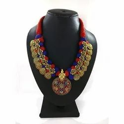Festival Wear Meenakari Kolhapuri Necklace