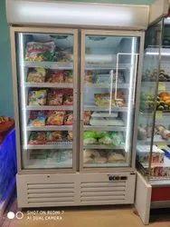Double Glass Door Display Freezer
