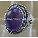 Indian Designer Amethyst Gemstone 925 Sterling Silver Ring