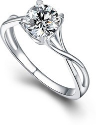 American Diamond Silver Plated Ring For Women And Girls