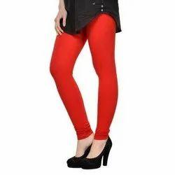 SAPS Plain Ladies Churidar Cotton Leggings, Size: Free Size