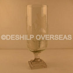 Crystal Cut Hurricane Lamps