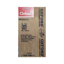 Brown Oxford Gurjan Ply Sheet, Thickness: 6 mm