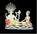 Marble Vishnu Laxmi Statue on Sheshnag