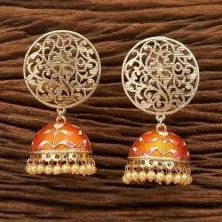 Handmade Jhumki Earring with Gold Plating 9898