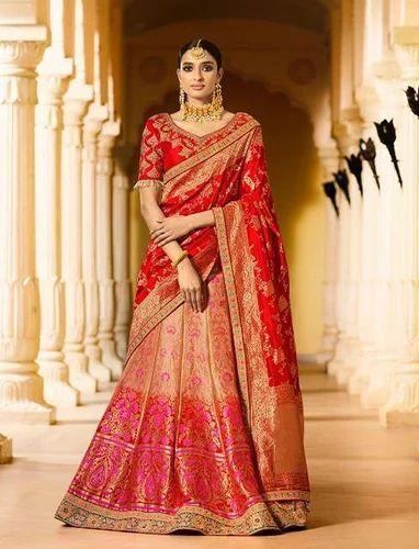 Semi-Stitched Silk Handwork Bridal Lehenga, Rs 7495 /piece ...