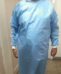 Blue Surgical Disposables gown, For Laboratory, Packaging Type: Packet