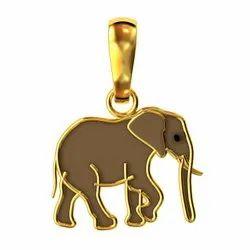 Unisex Elephant Pendant