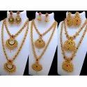 Golden Party Gold Plated Combo Necklace Sets
