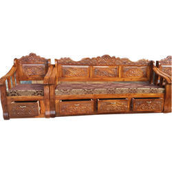 Brown Carved Wooden Furniture