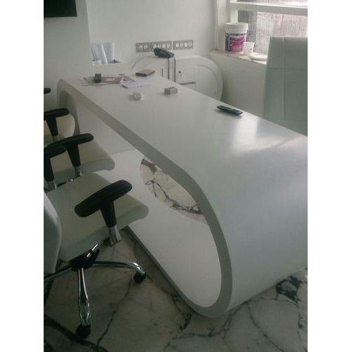 Acrylic office desk Clear Acrylic Solid Surface Office Desk Indiamart Acrylic Solid Surface Office Desk Malani Impex Ahmedabad Id