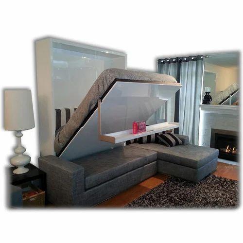 Grey Folding Wall Bed Size 5 X 6 Inch Rs 95000 Piece S K Fabricators Id 16529634762