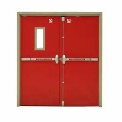 Stainless Steel Powder Coated Fire Rated Metal Door /METAL DOOR, Thickness: 44mm Thickness, Material Grade: Galvanised Steel