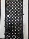 Black Malbari Mirror 5 Line Lace, For Garment