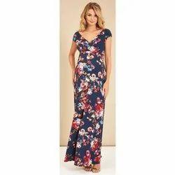 Printed Ladies Maxi Dress