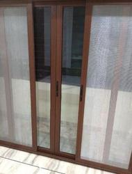 Wooden Finish Aluminium Door