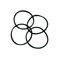 Black Rubber O Rings, Shape: Round