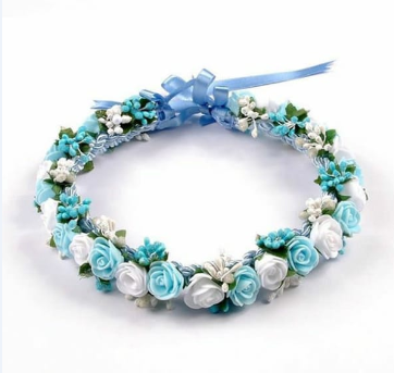 Blue and white flower tiara at rs 199 piece nathu colony delhi blue and white flower tiara mightylinksfo